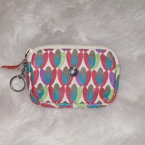 Fossil Keyring Leather Zippered Pouch